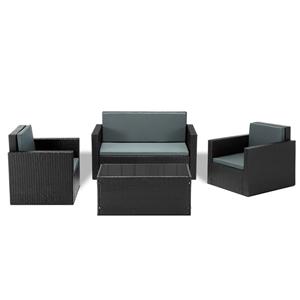 Gardeon 4 Piece Outdoor Wicker Furniture