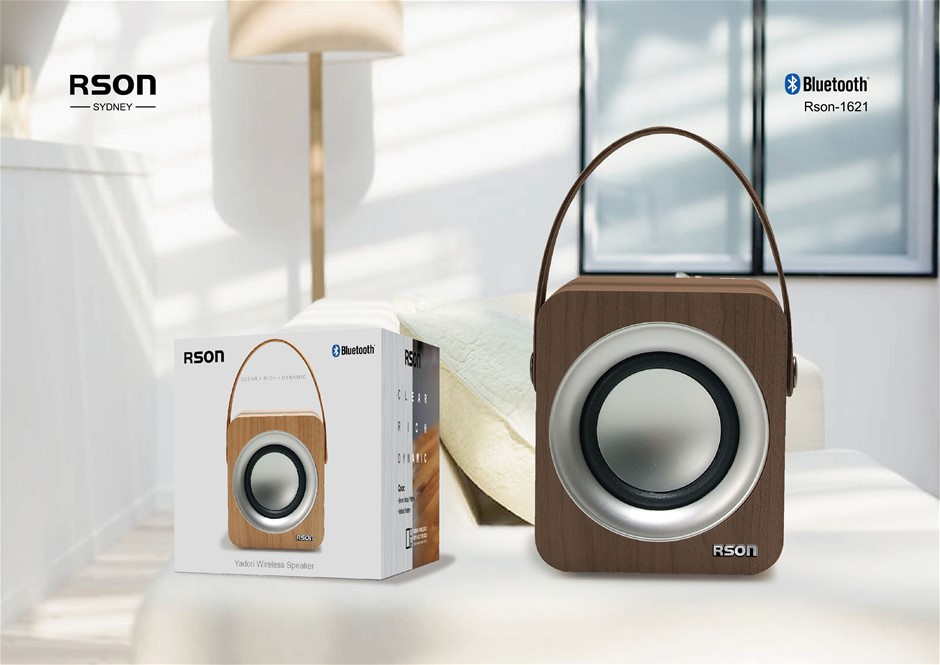 Rson Yadori Brown Wood Bluetooth Speaker (1621)