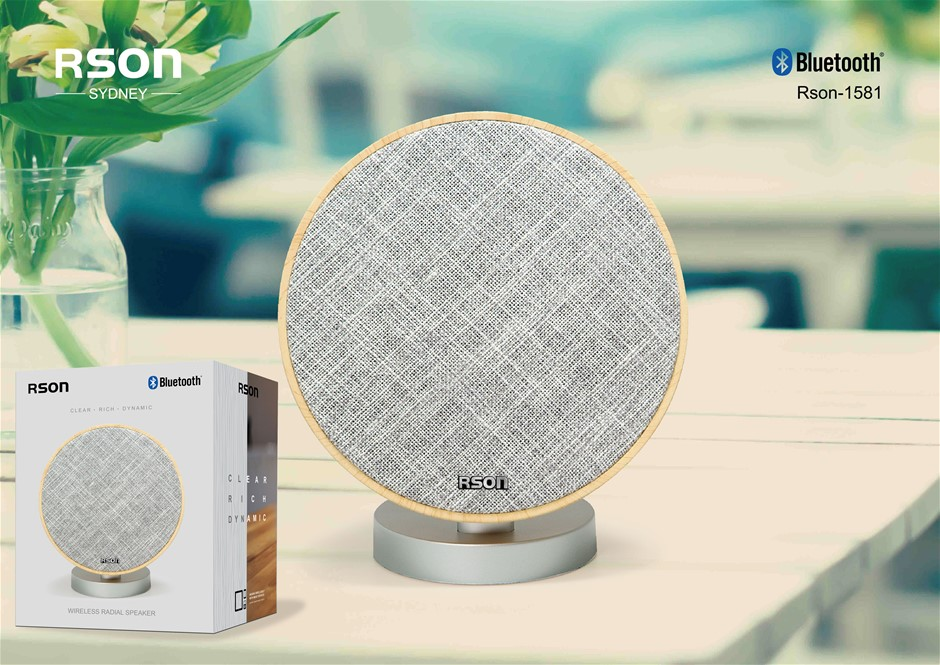 Rson Radial Yellow Bluetooth Speaker (1581)