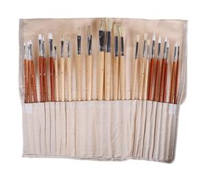 Professional 24pc Artist Brush Set with