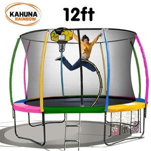 Kahuna Trampoline 12 ft - Rainbow with B