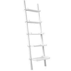 Artiss 5 Tier Wooden Ladder Wall Shelf R