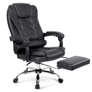 PU Leather Reclining Chair with Footrest