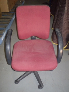 2 x 2nd hand formway office chairs with arms red