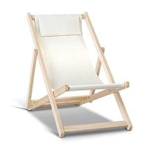 Artiss Fodable Beach Sling Chair - Sand