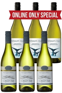 Whales Tale & Oyster Bay Sauvignon Blanc