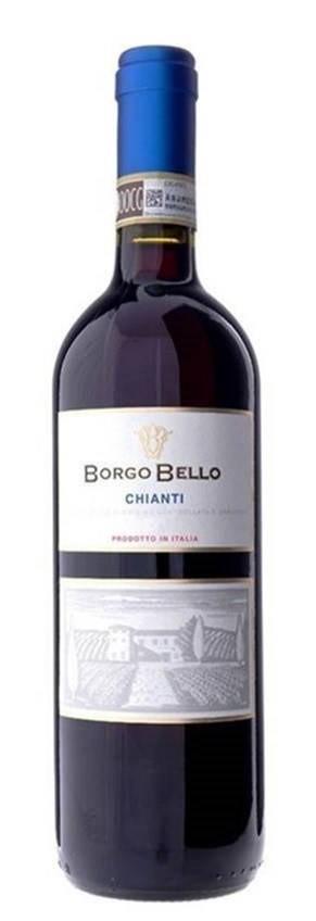 Borgo Bello Chianti DOCG 2018 (6 x 750mL) Tuscany, Italy