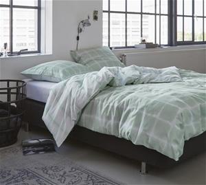 Printed Quilt Cover Set Green Check - KI