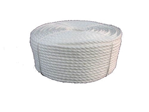 125M Coil x Polypropylene Rope 40mm Dia, 3-Strand, Colour: Silver