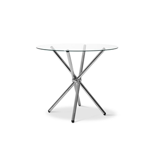 Artiss Round Dining Table with Tempered