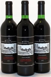 Wynns Coonawarra Black Label Cabernet Sauvignon 1992 (3x 750mL) 5 Star Prov