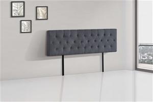 Linen Fabric King Bed Deluxe Headboard B