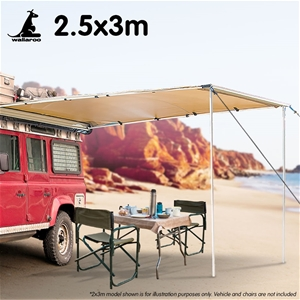 Wallaroo 3m x 2.5m Car Side Awning Roof