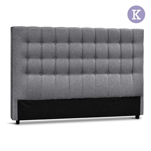 Artiss King Size Upholstered Fabric Head