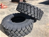 2 x Unused 17.5-R25 Earthmoving Tyres