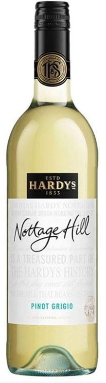 Hardy's `Nottage Hill` Pinot Grigio 2017 (6 x 750mL), SE AUS.