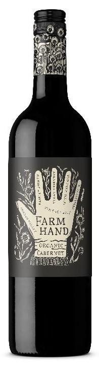 Farm Hand Organic Cabernet Sauvignon 2018 (6 x 750mL), SA.