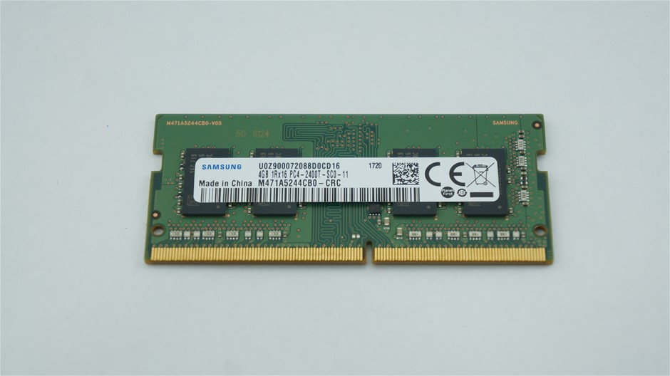 Samsung 4GB DDR4 PC4-2400T SO-DIMM Single-Sided 4-Chip Memory Module