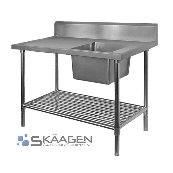 Unused Stainless Steel Sink 1500 x 600 Right positioning Dimensio