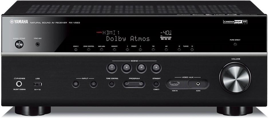 Yamaha RX-V683 AV Home Theatre 7.2 Dolby Atmos Receiver (Black)
