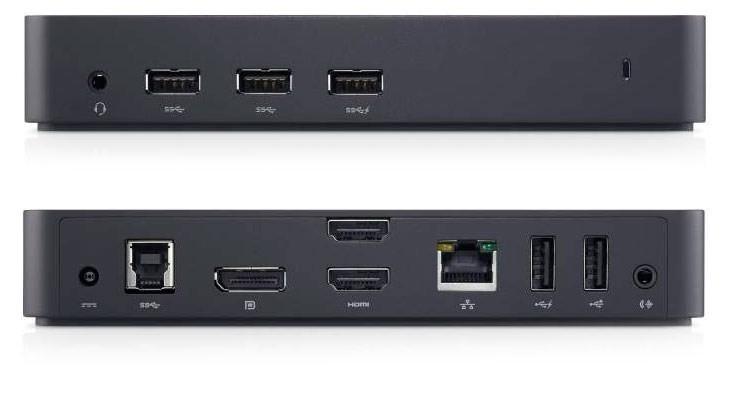 Dell D3100 USB 3.0 docking station, Black Networking: Gigabi