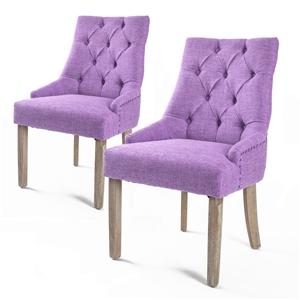2X French Provincial Oak Leg Chair AMOUR