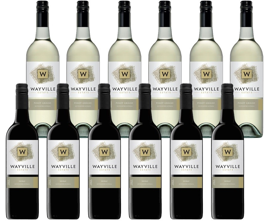 Wayville Estate Pinot Grigio & Shiraz (12 x 750mL) Mixed Pack