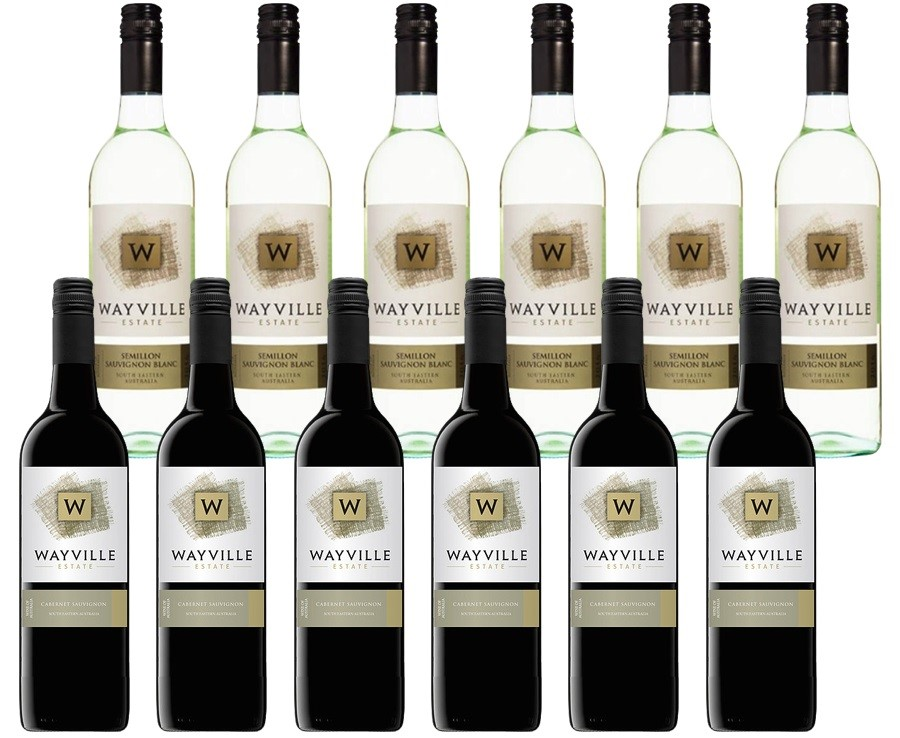 Wayville Estate Sem Sauvignon Blanc & Cabernet Sauv (12 x 750mL) Mixed Pack