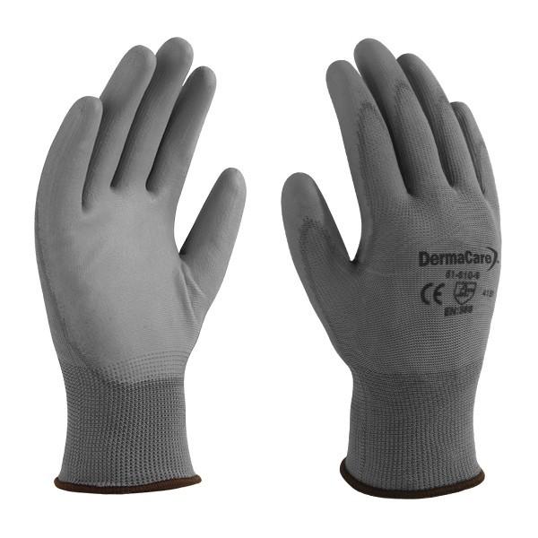 12 x DERMA CARE Multi-Purpose Light Weight Gloves Size L, Machine Knit Nylo