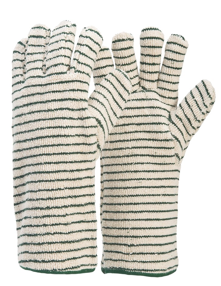 48 Pairs x Industrial Oven Gloves, Size XL, Spark Resistant Terry Cord. (SN