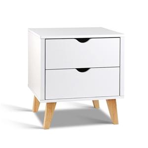 Artiss 2 Drawer Wooden Bedside Tables -