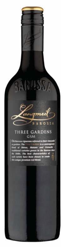Langmeil `Three Gardens` GSM 2017 (6 x 750mL), Barossa, SA.