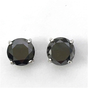 18ct White Gold 3 33ct Black Diamond St