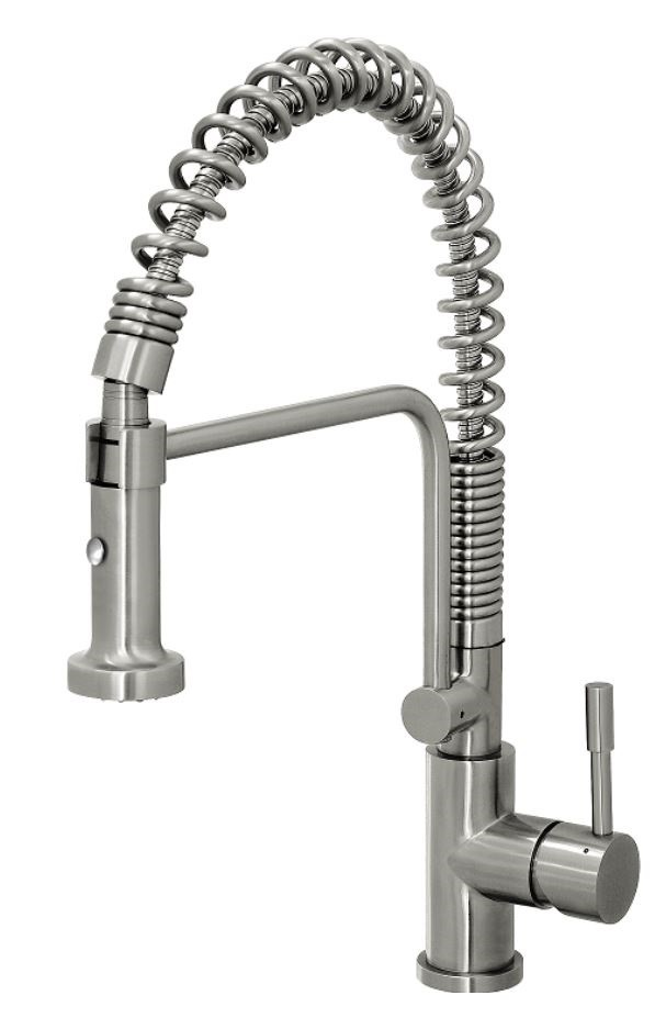 Monsoon Showers Stainless Steel Kitchen Mixer Tap with Extendable Spray