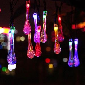 Solar Powered Water Drop String Light