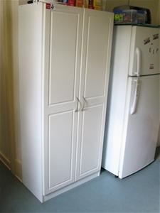 Pantry Cupboard White Polyurethane Finish 2 Door White