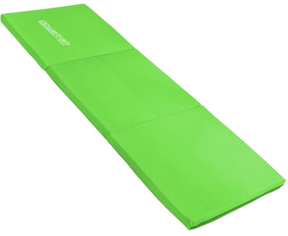 Powertrain Tri-fold Yoga Exercise Mat - Green