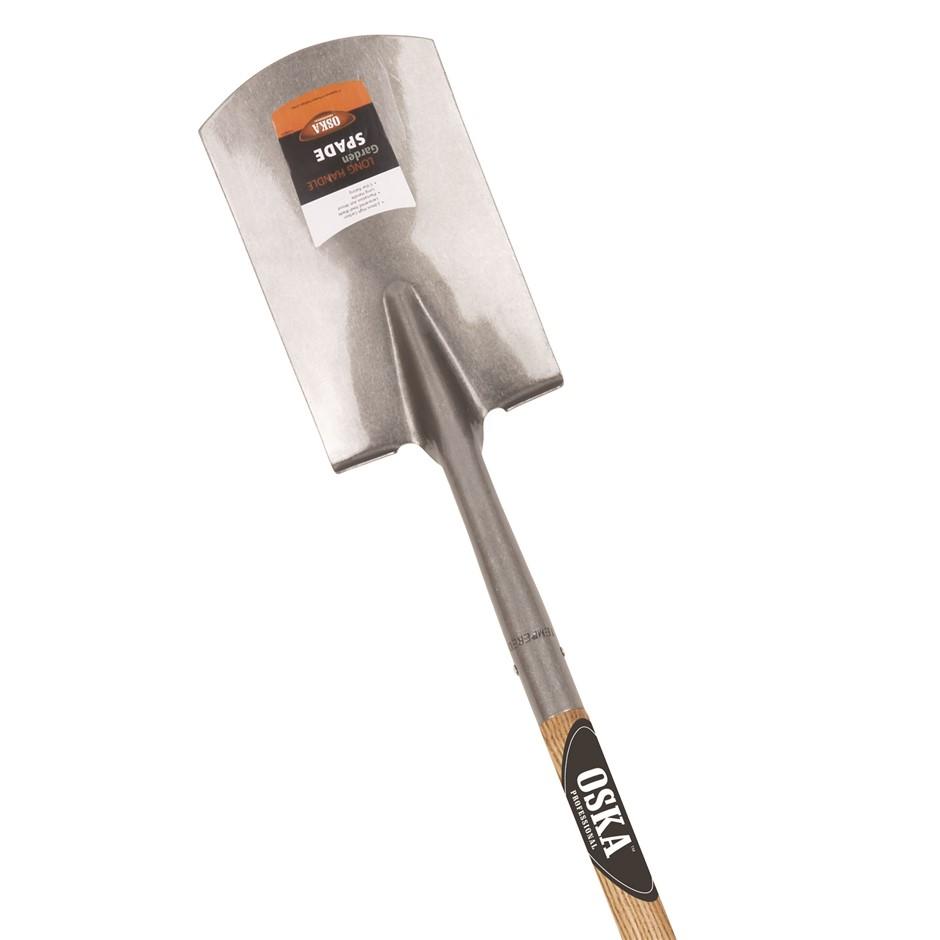 2 x OSKA Long Ash Wood Handle Spade. (SN:9494853-K2) (266042-96)
