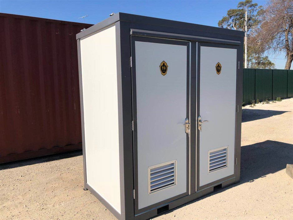 Unused Portable Double Toilet Block