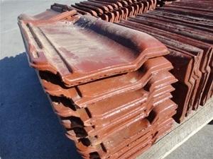 Pallet Containing 62 Monier Wunderlich Brown Glazed