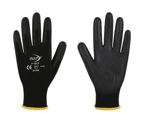 24 Pairs x DERMA CARE Multi-Purpose Light Weight Gloves, Size M, Machine Kn
