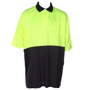 4 x FRONTIER Hi-Vis Day Micromesh Polo S