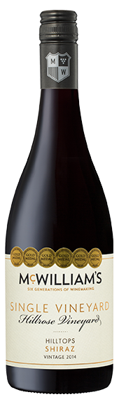 McWilliam's Single Vineyards Hilltops Shiraz 2014 (6 x 750mL) NSW.