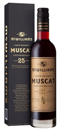McWilliam's Show Reserve 25YO Muscat (6 x 750mL), NSW.