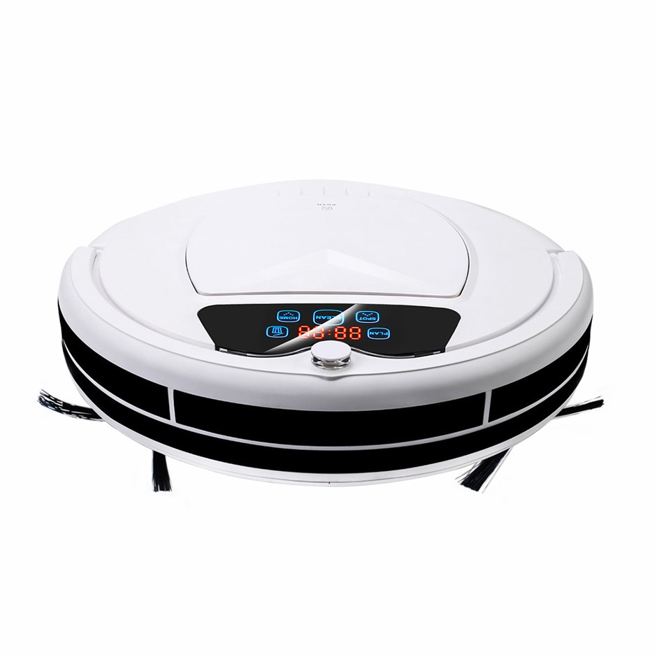 Vacuum Cleaner Floor Mopping Robot - WHITE