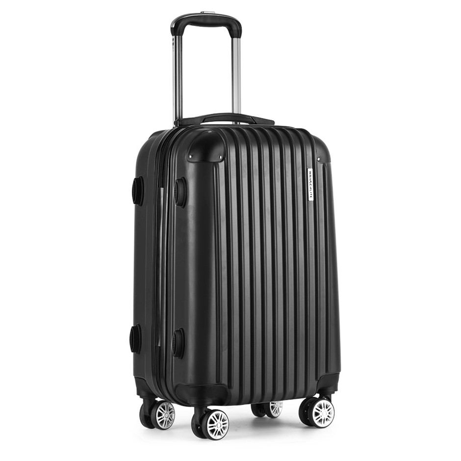 Wanderlite 24inch Lightweight Hard Suit Case - Black