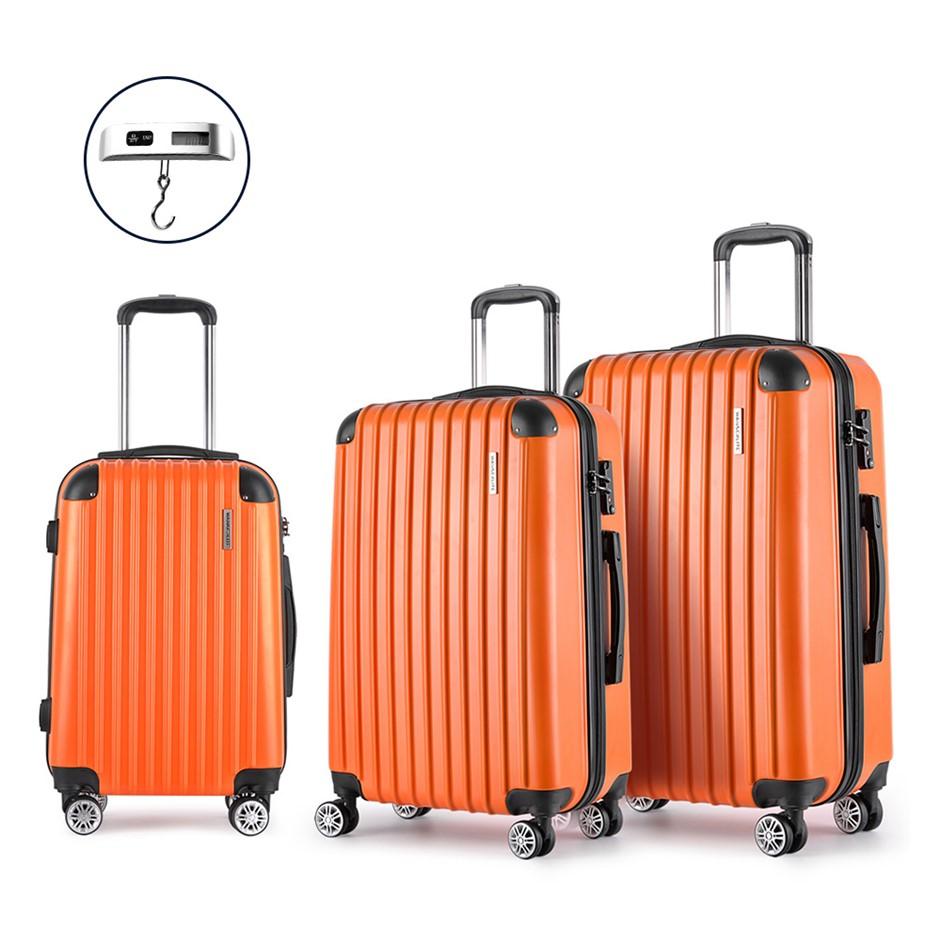 Wanderlite 3 Piece Lightweight Hard Suit Case - Orange