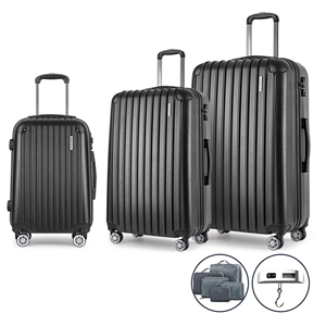 Wanderlite 3 Piece Luggage Suitcase Trol
