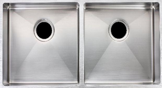 Double Bowl, 304 Stainless Steel Handmade Kitchen Sink Round corner