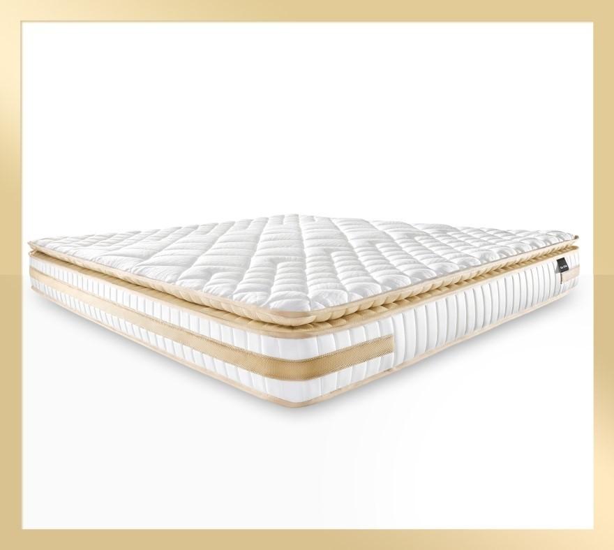 Atlas Gold - Memory Foam Pillow Top Mattress with Firm Edge, Queen size
